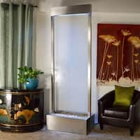 8' Stainless Steel Gardenfall with Clear Glass