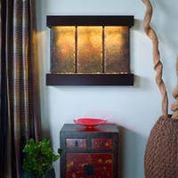 Triptych falls with Copper Vein Trim