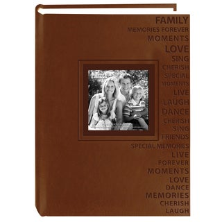 Pioneer Photo Albums Embossed Words Leatherette Album (Pack of 2)