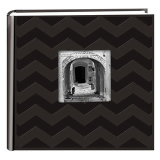 Pioneer Photo Albums 200-pocket Black Chevron Leatherette Album (2 Pack)