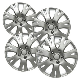 WCA 1032 16S Design Hub Cap ABS Silver 16-inch (Set of 4)