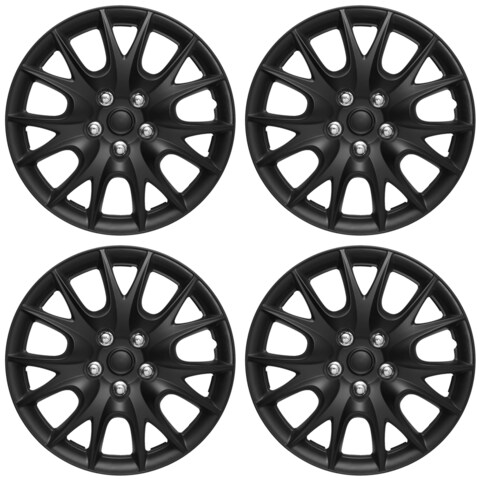ABS Matte Black 15-inch Hub Caps (Set of 4)