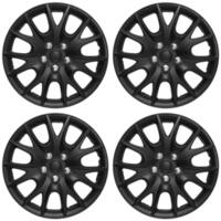ABS Matte Black 15-inch Hub Caps (Set of 4)