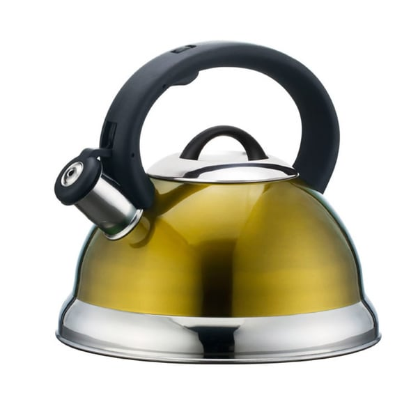 Alpine cuisine yellow whistling tea kettle free shipping for Alpine cuisine tea kettle
