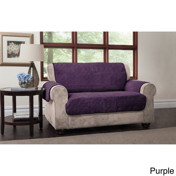 Innovative Textile Solutions Puffs Plush Loveseat Furniture Protector