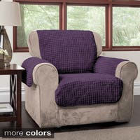 Innovative Textile Solutions Puffs Plush Furniture Protector Chair Slipcover - One Size Fits most
