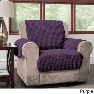 Innovative Textile Solutions Puffs Plush Furniture Protector Chair Slipcover