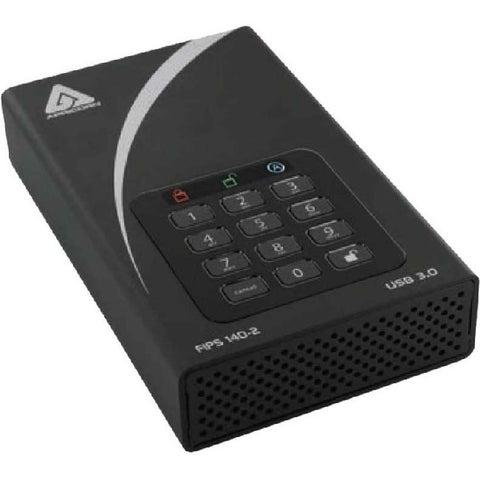 "Apricorn Aegis Padlock DT FIPS ADT-3PL256F-3000 3 TB 3.5"" External Ha"