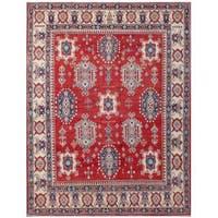 Handmade Herat Oriental Afghan Kazak Wool Rug (Afghanistan) - 6'8 x 8'7