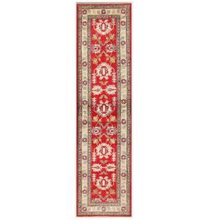 Herat Oriental Afghan Hand-knotted Kazak Wool Runner (2'9 x 10'7)
