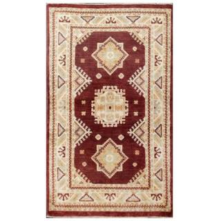 Herat Oriental Afghan Hand-knotted Kazak Wool Rug (2'6 x 4')