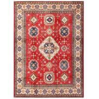 Herat Oriental Afghan Hand-knotted Kazak Wool Rug (7'2 x 9'11)