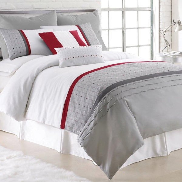 Amraupur Overseas Dexter 8-piece Embroidered Comforter Set