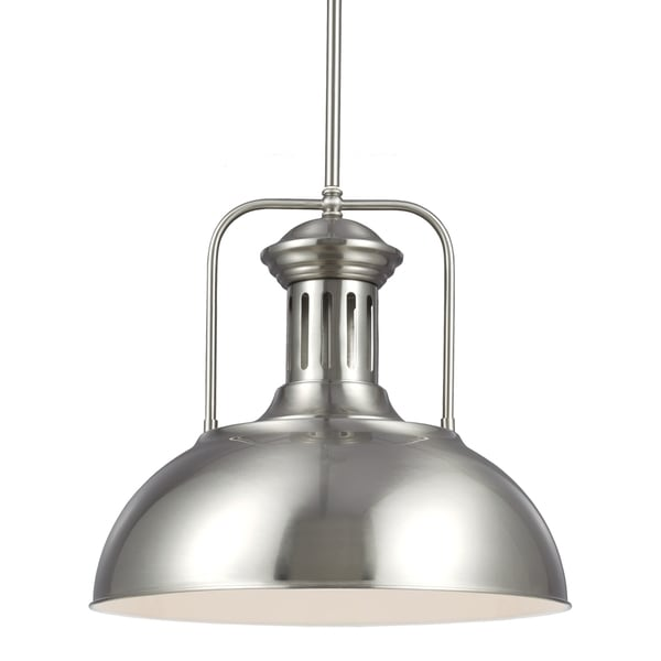 Shop Beacon Street Brushed Nickel One Light Pendant
