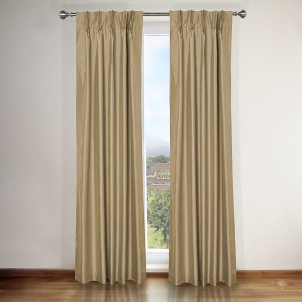 elaine taupe pinch pleat curtain panel pair