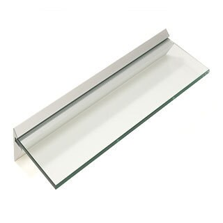 "Capri 8"" x 36"" Clear Glass Shelf Kit (Pack of 4)"