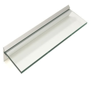 "Capri 8"" x 24"" Clear Glass Shelf Kit"