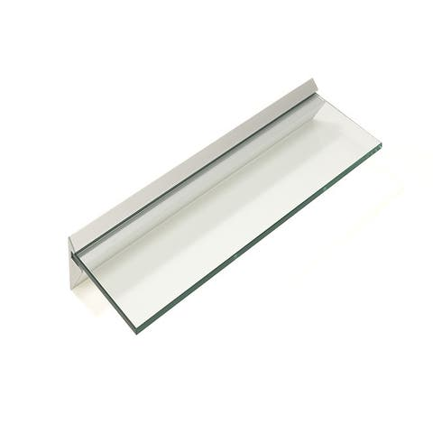 "Capri 8"" x 24"" Clear Glass Shelf Kit (Pack of 4)"