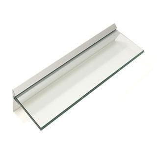 "Capri 8"" x 24"" Clear Glass Shelf Kit (Pack of 4)"