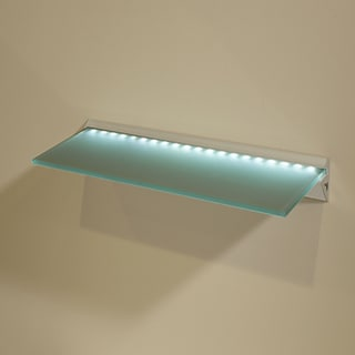 "Capri LED 8"" x 24"" Opaque Glass Lighted Shelf Kit"
