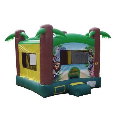 JumpOrange Safari Inflatable Bounce House, Commercial PVC Vinyl, with Blower