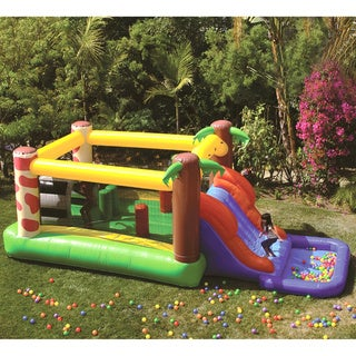 Link to JumpOrange Waterfall Inflatable Bounce House, Commercial PVC Vinyl, with Blower Similar Items in Outdoor Play