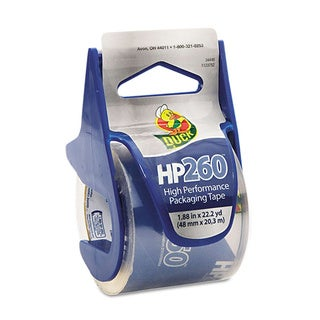 "HP260 Packaging Tape w/Dispenser, 1.88"" x 22.2 yds, Clear"