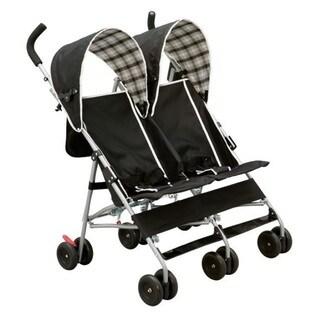 Delta DX Side by Side Stroller in Black Plaid