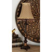 Tall Sleek Polystone Table Lamp
