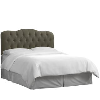 Skyline Furniture Tufted Headboard in Velvet Pewter