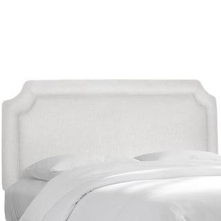 Notched Border Headboard in Twill White- Skyline Furniture