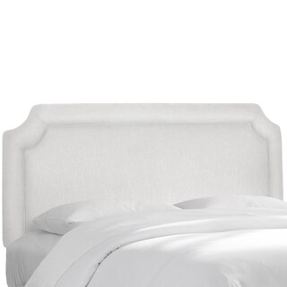 Notched Border Headboard in Twill White- Skyline Furniture