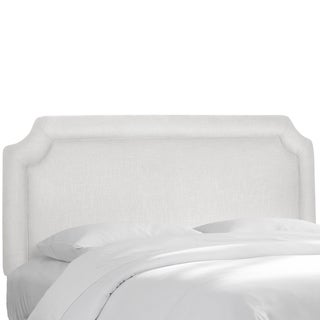 Skyline Furniture Notched Border Headboard in Twill White