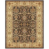 Grand Bazaar Tufted Wool Pile Corbel Rug in Chocolate/ Ivory - 5' x 8'