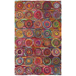 LNR Home Layla Multi-colored Abstract Area Rug (3'6 x 5'6)