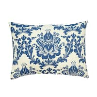 Dalilah Blue Damask King-size Pillow Sham