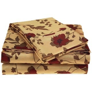 Superior Wrinkle Resistant Printed Deep Pocket Microfiber Sheet Set