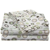 Superior Wrinkle Resistant Deep Pocket Printed Microfiber Sheet Set