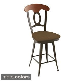 Amisco Bourbon Swivel Metal Counter Stool Free Shipping