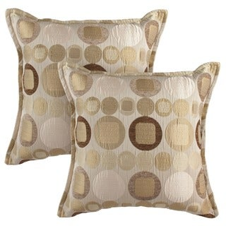 Sherry Kline Metro Taupe 20-inch Decorative Throw Pillows (Set of 2)