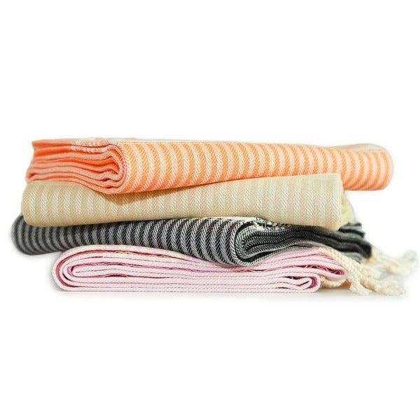 Authentic Hotel and Spa Pestemal Fouta Allure Herringbone Turkish Cotton Towel