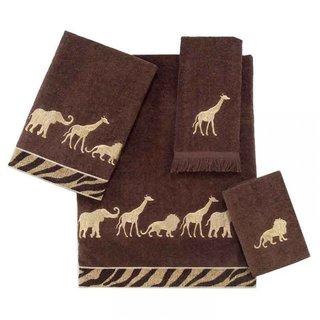 Avanti Animal Parade Brown 4-piece Towel Set