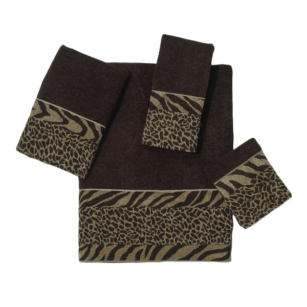 Avanti Cheshire Brown Embellished 4-piece Towel Set