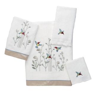 Avanti Colibri White Embellished 4-piece Towel Set