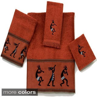 Avanti Kokopelli Embellished 4-piece Towel Set