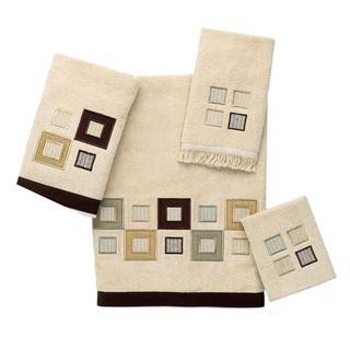 Avanti Metropolis Tan Embellished 4-piece Towel Set