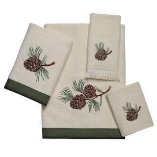 Avanti Pine Creek Off-White Embellished 4-piece Towel Set
