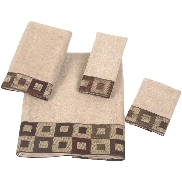 Avanti Precision Cotton Embellished 4-piece Towel Set