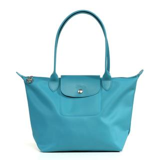 Longchamp Planetes Medium Turquoise Tote Bag