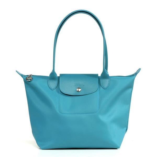 Shop Longchamp Planetes Medium Turquoise Tote Bag - Free Shipping ... e4ad1d6ea52c7